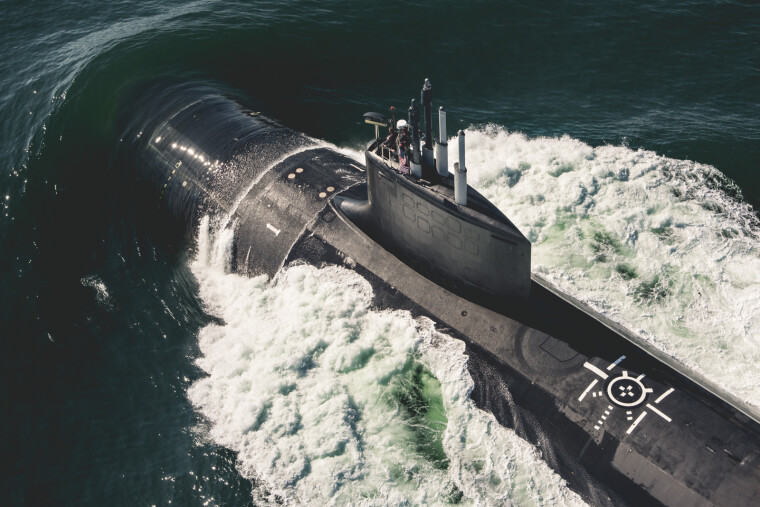 Испытания подводной лодки Delaware класса Virginia / Ashley Cowan