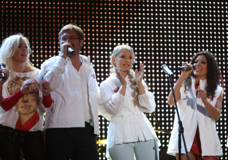 Ірина Білик, Олександр Пономарьов, прем'єр-міністр України Юлія Тимошенко та Руслана Лижичко