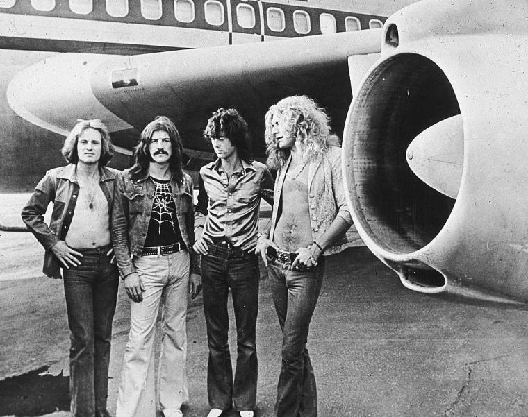 Участники группы Led Zeppelin Джон Пол Джонс, Джон Бонэм