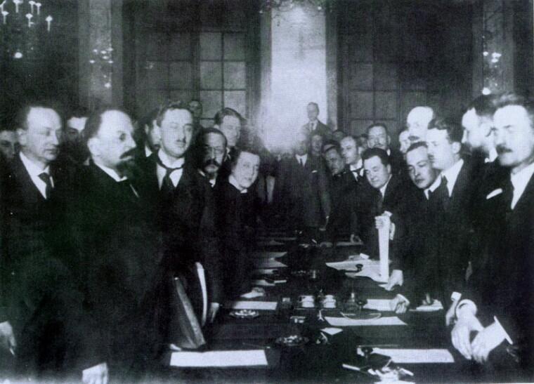 Підписання мирного договору в Ризі, 18 березня 1921 р.