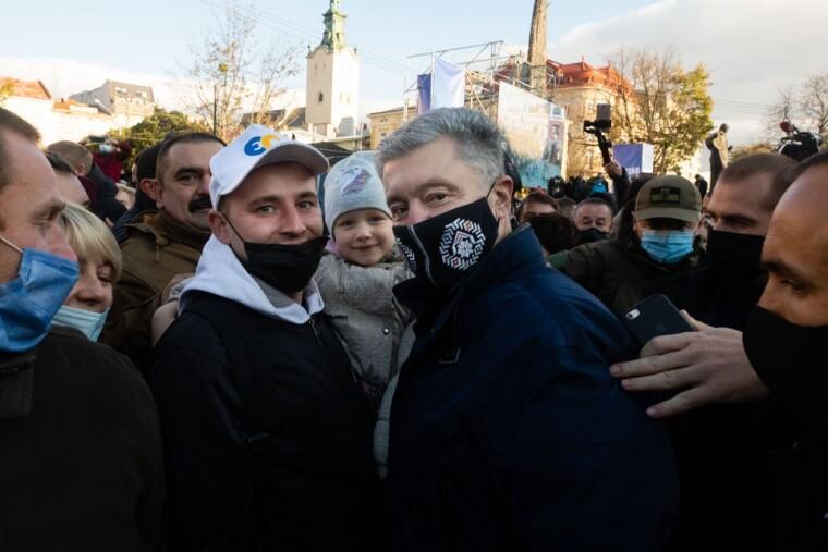 Петр Порошенко во Львове
