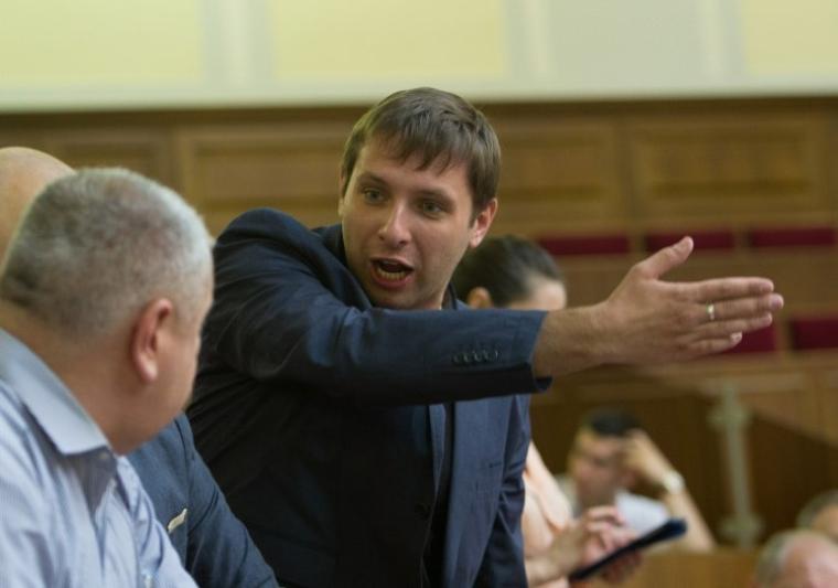 Владимир Парасюк в зале Верховной Рады