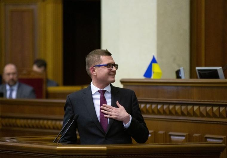 Иван Баканов во время заседания Верховной Рады
