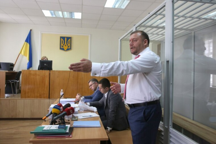 Михаил Добкин во время заседания Печерского райсуда Киева по избранию ему меры пресечения, 15 июля 2017 г.