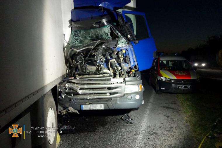 Авария произошла на трассе Н-08 Борисполь-Днепр-Запорожье