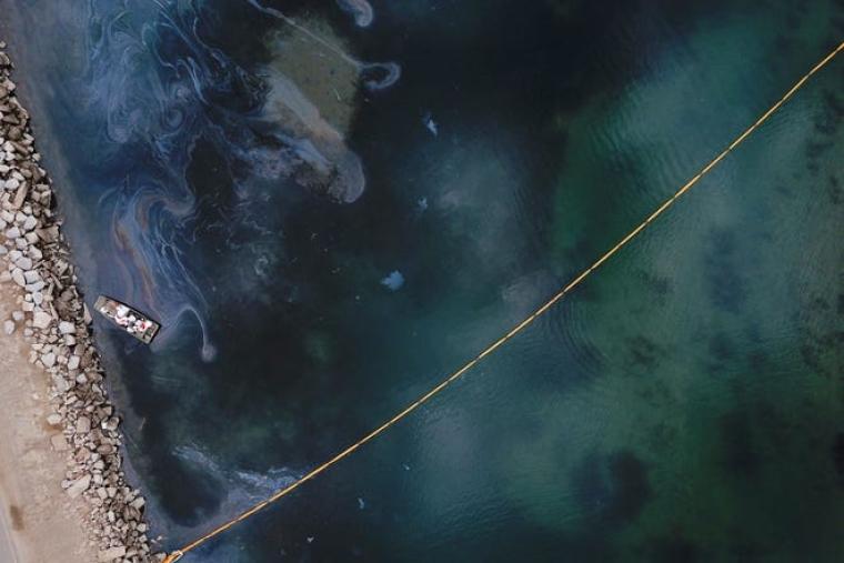 Пошкоджений морський трубопровід