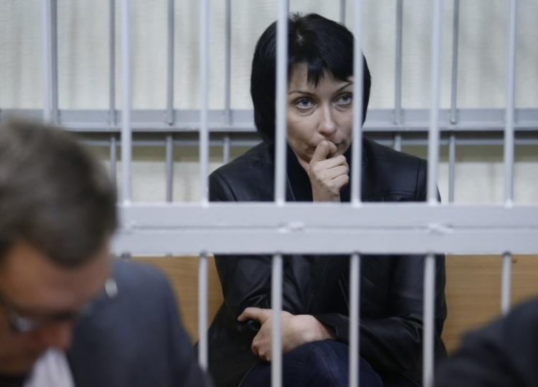 Екс-міністр юстиції України Олена Лукаш під час засідання Печерського райсуду Києва, 6 листопада 2015 р.