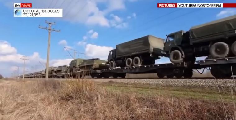 Военный лагерь России у границы с Украиной/скриншот