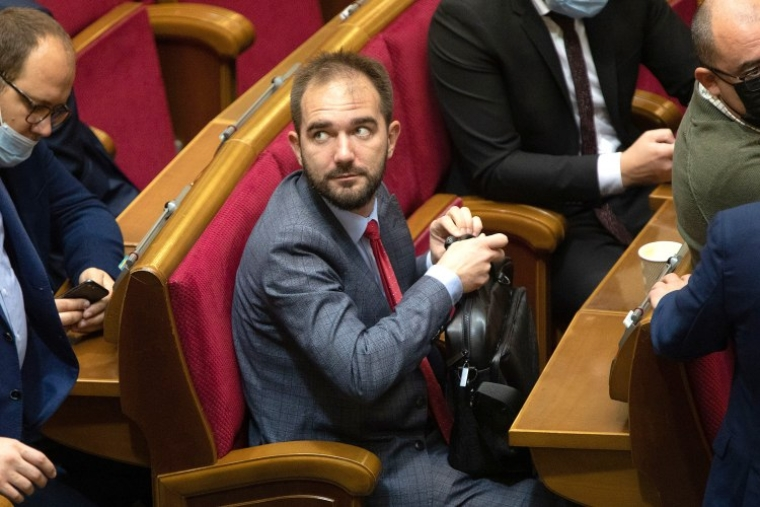 Народний депутат Олександр Юрченко під час засідання Верховної Ради
