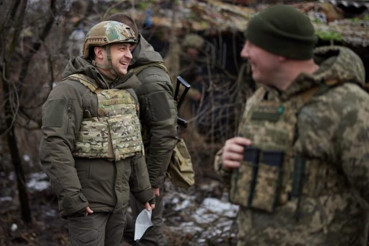 Общение Зеленского с военными
