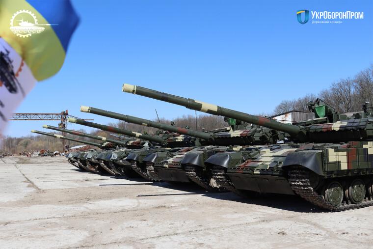 Отремонтированные танки Львовский бронетанковый завод передал в ВСУ