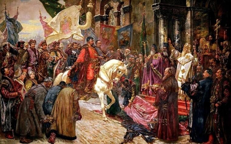 """Николай Ивасюк, """"Въезд Богдана Хмельницкого в Киев 1649"""""""