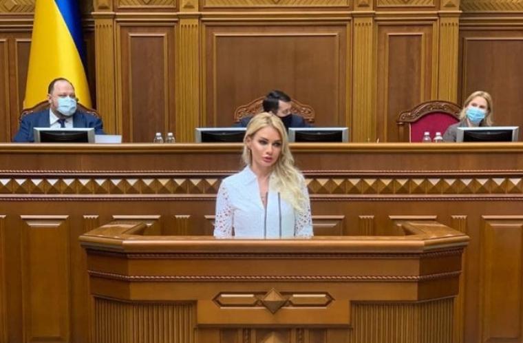 Виступ у Верховній Раді, 17 червня 2021 р. / Facebook Ірини Аллахвердієвої