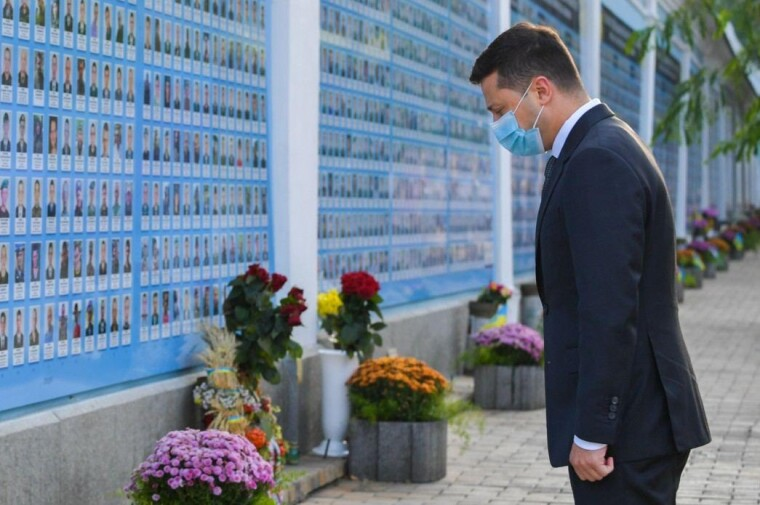 Владимир Зеленский на Михайловской площади