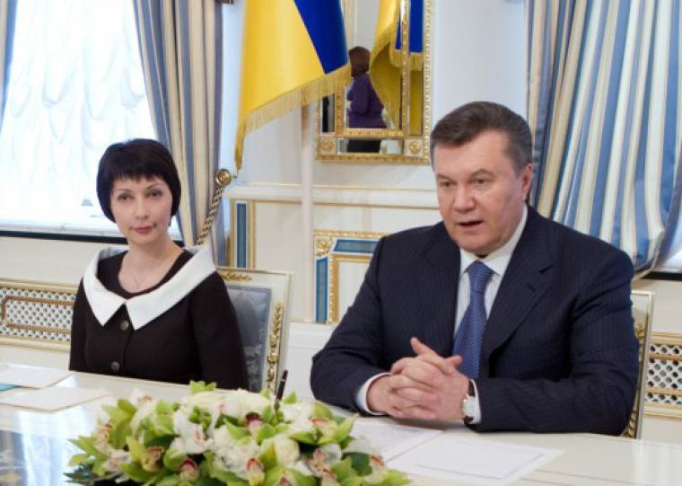 Олена Лукаш та Віктор Янукович, 2012 р.