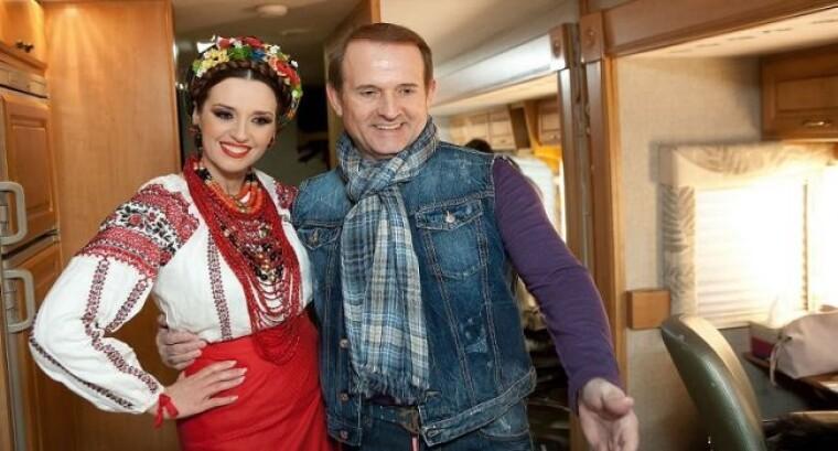 Виктор Медведчук и его супруга Оксана Марченко