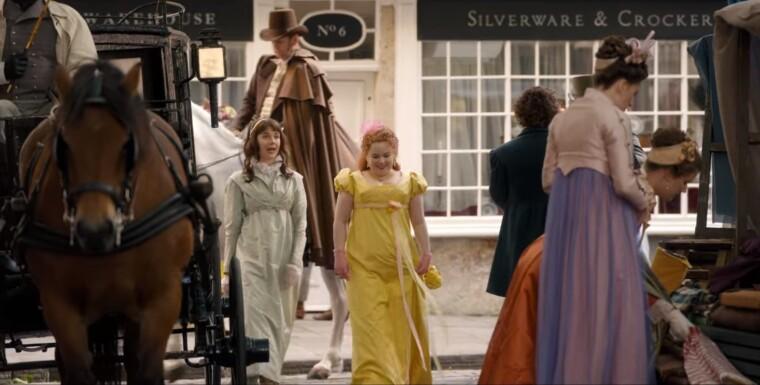 Елоїза і Пенелопа Фезерінгтон – помітно, що їхні плаття, наче з різних епох