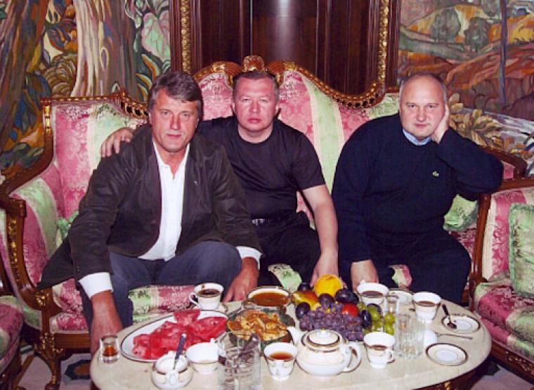 Виктор Ющенко, Владимир Сацюк и Игорь Cмешко