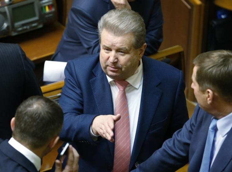 Народний депутат Михайло Поплавський в залі Верховної Ради, 2014 р