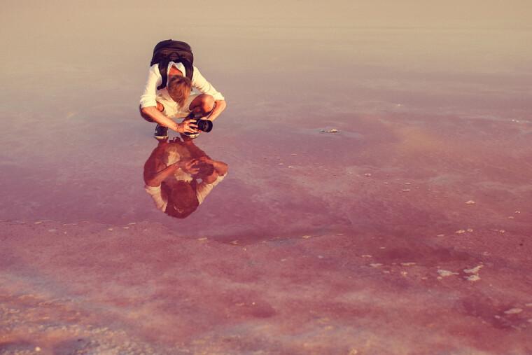 Рожеве солоне озеро в Генічеську