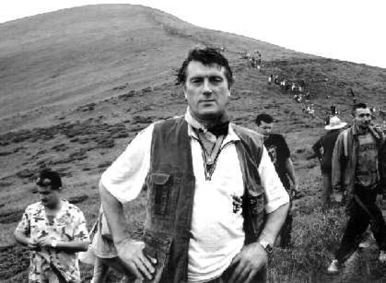 Виктор Ющенко во время восхождения на Говерлу, 2001 г.