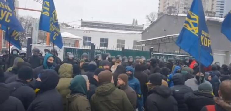 Активисты Нацкорпуса / скриншот с видео