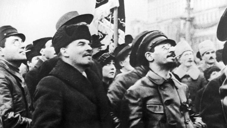 Ленин и председатель Реввоенсовета Республики Троцкий