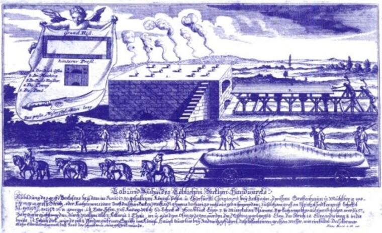 Рождественский штоллен для армии короля Августа II Сильного: только что из печи