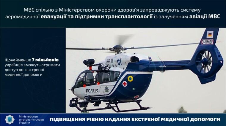 МВД планирует запустить систему аэромедицинской эвакуации