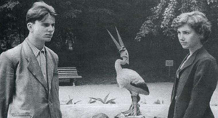 Леонид Кравчук с будущей женой Антониной