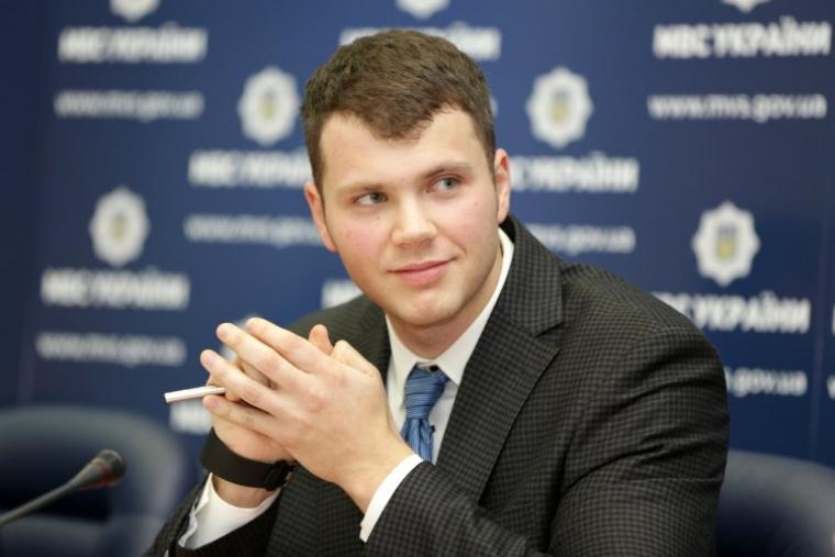 Начальник Главного сервисного центра МВД Украины Владислав Криклий, 2015 г.