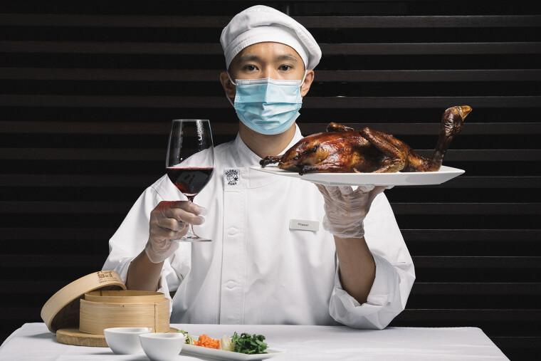 Качка по-пекінськи ідеально поєднується з вином