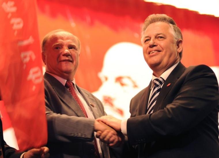 Лідери компартій Росії та України Геннадій Зюганов і Петро Симоненко, 2008 р.