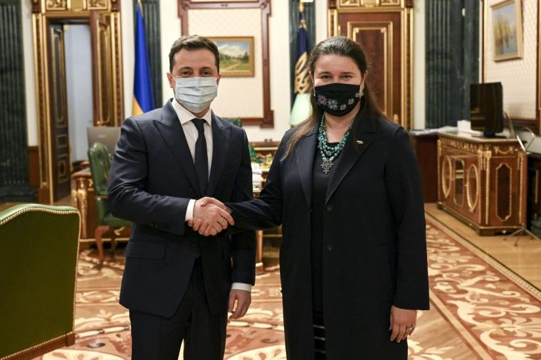 Володимир Зеленський і Оксана Маркарова / Офіс президента України