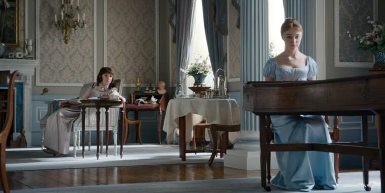 Сестри Елоїза і Дафна Бріджертон і вітальні свого будинку