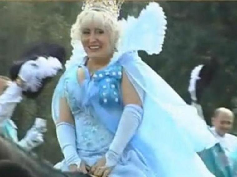 Неля Штепа в образе феи во время городского карнавала/Фото из открытых источников