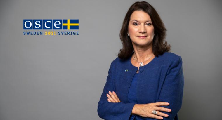 Глава ОБСЕ, министр иностранных дел Швеции Анн Линде