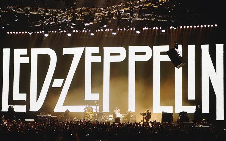 """Концерт """"Led Zeppelin"""" на сцене лондонской """"O2 Arena"""", 2007"""