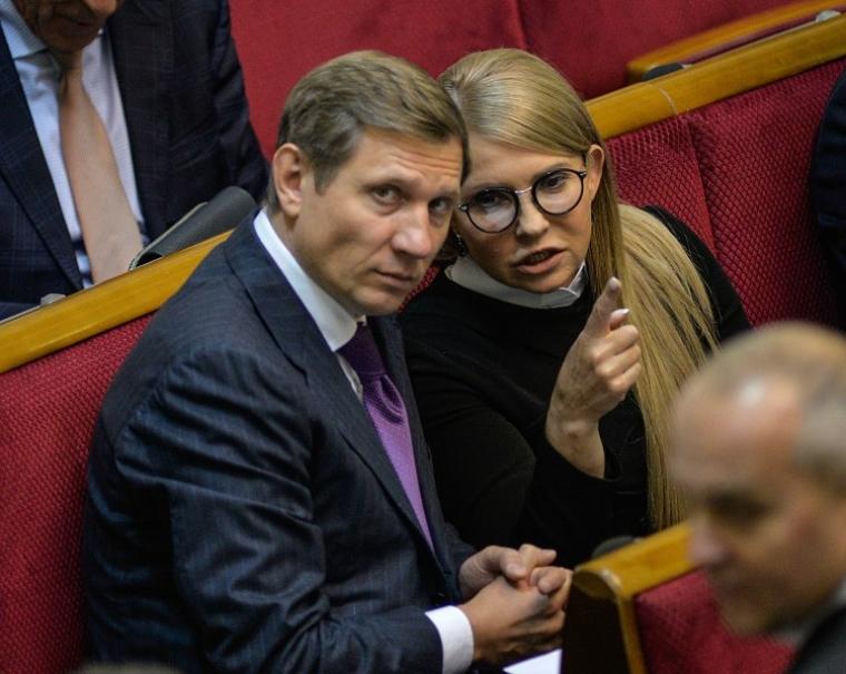 Народные депутаты Украины Сергей Шахов и Юлия Тимошенко