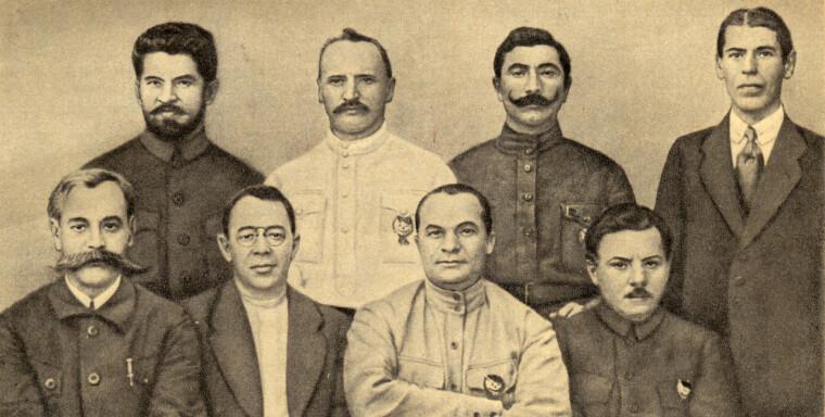 Главком РСФСР Сергей Каменев (внизу слева) и руководство 1-й Конной армии