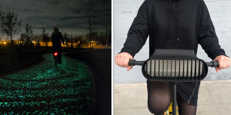 Велосипедная дорожка и антисмоговый велосипед студии Roosegaarde