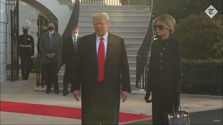 Дональд Трамп з Меланією Трамп біля Білого дому