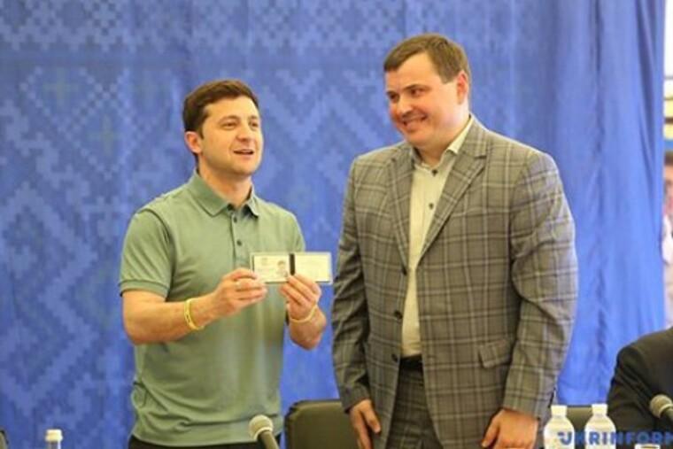 Владимир Зеленский и Юрий Гусев