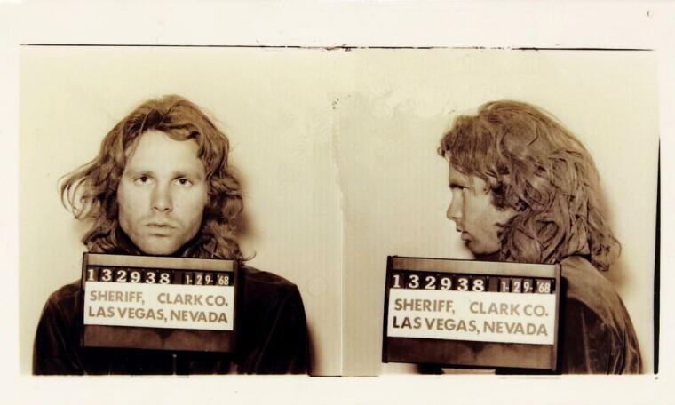 Джимм Моррисон во время ареста