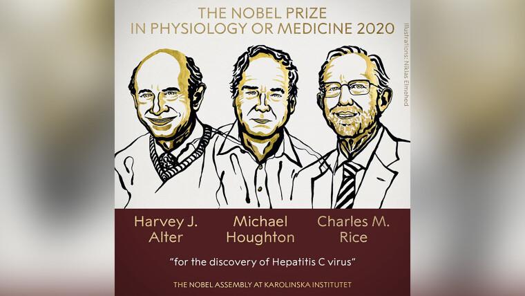 Нобелівські лауреати Харві Алтер, Майкл Хаутон і Чарльз Райс