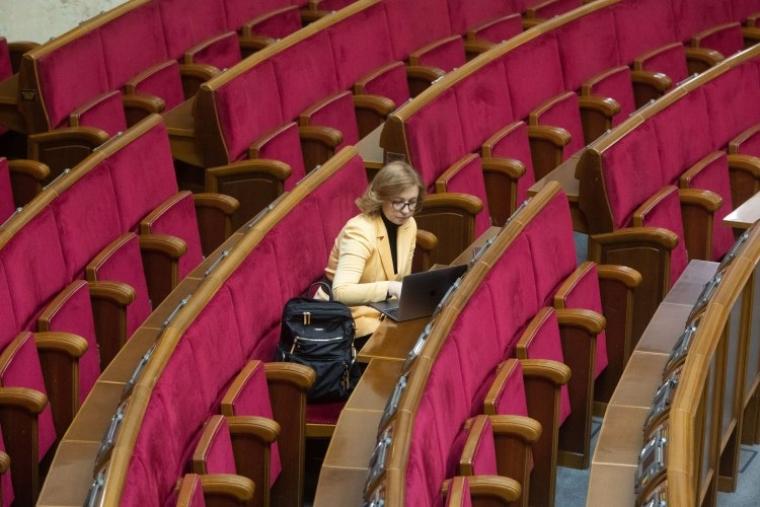 Народний депутат Інна Совсун під час засідання Верховної Ради України, 2021 р.