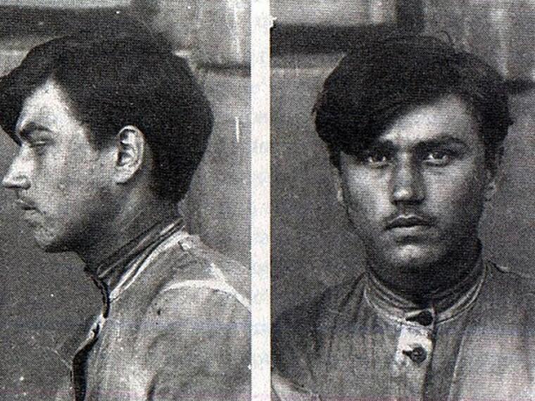 Юрій Горліс-Горський в 1920 р. у Єлисаветградській в'язниці. Фото з ГДА СБУ