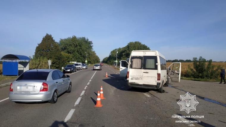 Авария произошла на 30 км автодороги Н-08 Борисполь-Мариуполь