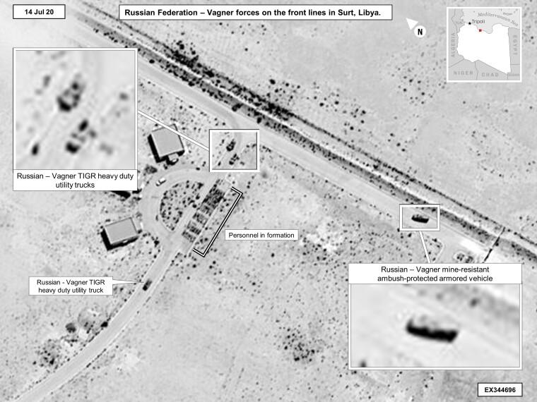 """Российские военные грузовики и бронемашины """"Тигри"""" в Ливии"""