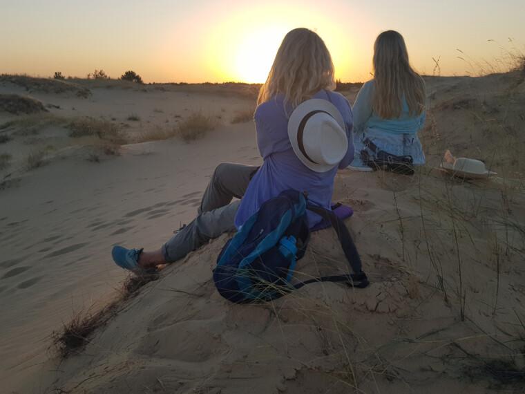 Захід сонця на Олешківських пісках